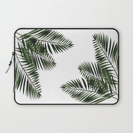 Tropical Exotic Palm Leaves I Laptop Sleeve