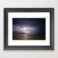 Lightning Storm over Koh Samui Framed Art Print