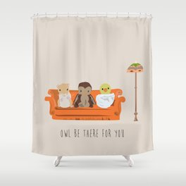 Owl Be There For You Shower Curtain
