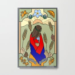 Six of Wands for Armenia Metal Print
