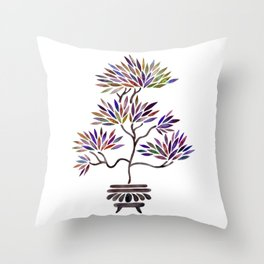 Bonsai Tree – Vintage Palette Throw Pillow