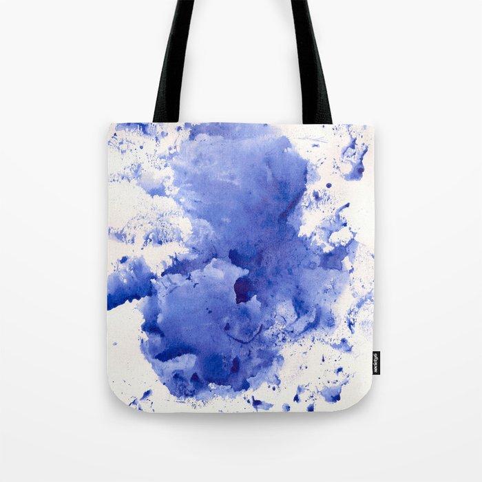 Blue Splotch Tote Bag