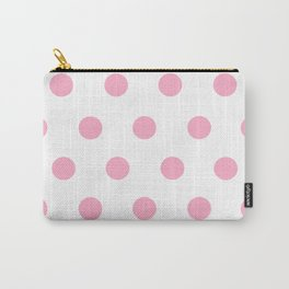 Pink Polka Dot Design Carry-All Pouch