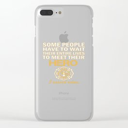 THE FIREFIGHTER'S MOM Clear iPhone Case