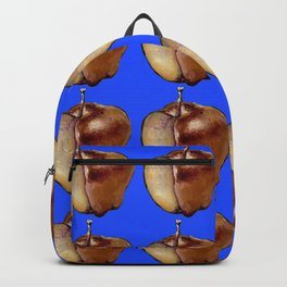 blue apple pattern Backpack