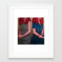 karen hallion Framed Art Prints featuring Mel & Karen by Kevin Thomas