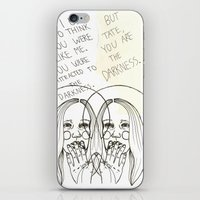 ahs iPhone & iPod Skins featuring Violet AHS by Luna Perri