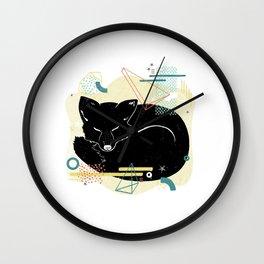 Dreaming fox illustration Wall Clock