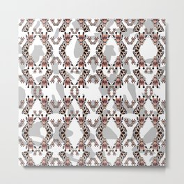 Giraffe Pattern Metal Print