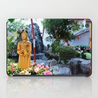 buddah iPad Cases featuring Garden Buddah by Avery Mitchell Photos