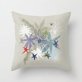 Winter floral bouquet Throw Pillow