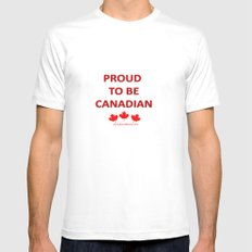 Proud Canadian White Mens Fitted Tee MEDIUM