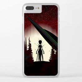 Aliens in the Forest Clear iPhone Case