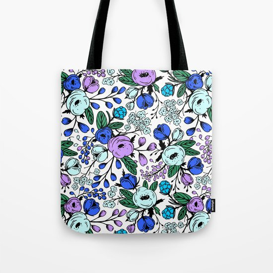 Blue blossom Tote Bag