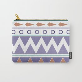Pastel Graphic stripes Carry-All Pouch