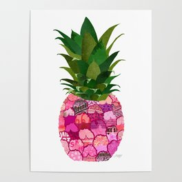 Pineapple Collage Poster