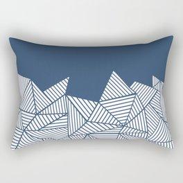 Abstract Mountain Navy Rectangular Pillow