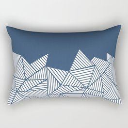Abstract Mountain Navy Rectangular Pillow