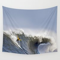 jay fleck Wall Tapestries featuring Jay Moriarity by Rothko