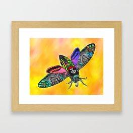 Goth Moth Framed Art Print