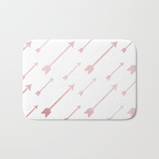 Simply Adventure Arrows in Rose Gold Sunset Bath Mat