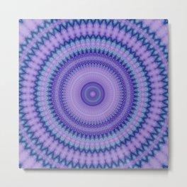 Pantone Purple Aqua Mandala Metal Print