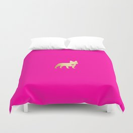 French Bulldog Gold Duvet Cover