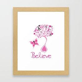 Breast Cancer Survivor Framed Art Print