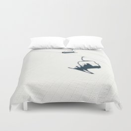 Chair lift shadow Duvet Cover