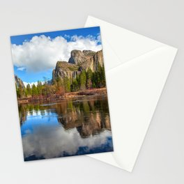 Yosemite Valley View Reflection Stationery Cards