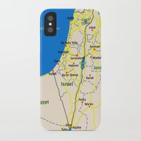 israel iPhone & iPod Cases featuring Israel Map design by Efratul