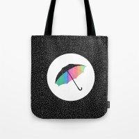 umbrella Tote Bags featuring umbrella by Luna Portnoi