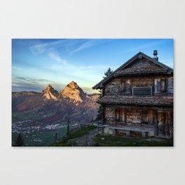 Swiss Hut Canvas Print