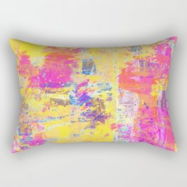 Always Look On The Bright Side - Abstract, textured painting Rectangular Pillow