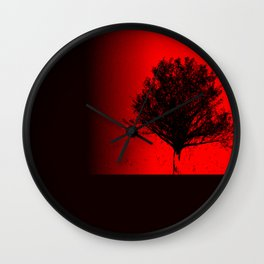 Red Maple Wall Clock