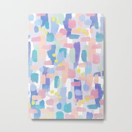 watercolor pattern Metal Print