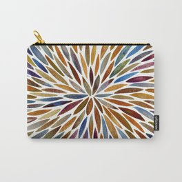 Watercolor Burst – Retro Palette Carry-All Pouch