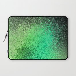 Neon Lime Green and Black Spray Paint Art Laptop Sleeve