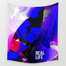 Graphic interpretation of the music Real Life by Kimbra Wall Tapestry