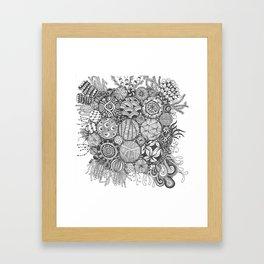 Rag rounds Framed Art Print