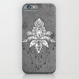 Wonderful lotus, zentangle design iPhone Case