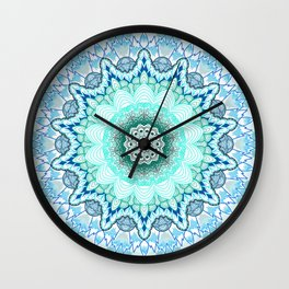 Snow Queen Mandala  Wall Clock