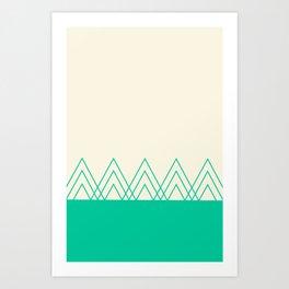 Mint Triangles Art Print
