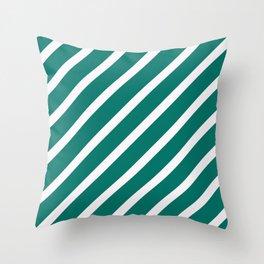 CLASSIC CROSS CELADON Stripes Throw Pillow