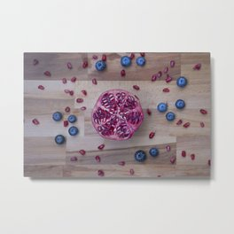 Pomegranate Blueberry explosion Metal Print