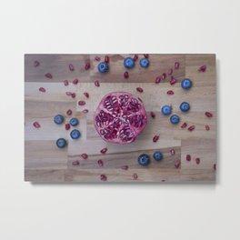 Pomegranate Blueberry explosion Metal Print