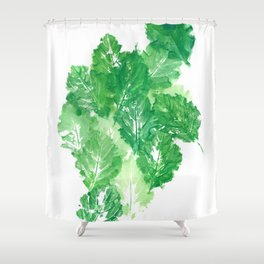 Leaves Dynamics Shower Curtain