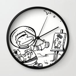 Space Ape Painting a Still Life Wall Clock