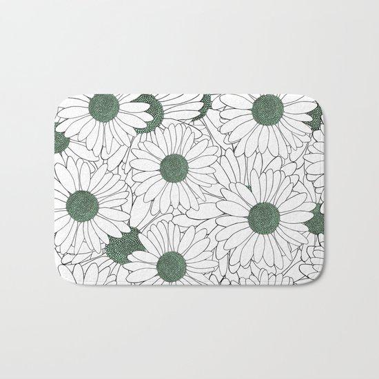 Daisy Mint Bath Mat