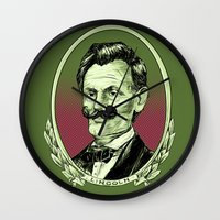 lincoln Wall Clocks featuring Lincoln by Esteban Ruiz